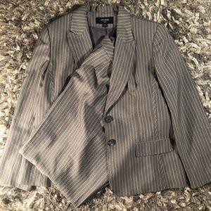 Jones Ware Pinstriped Suit Size 18